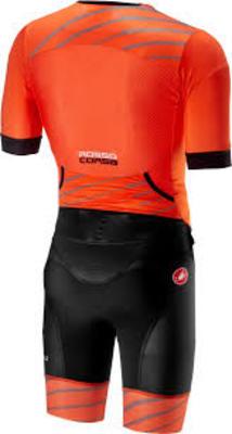 CastelliFree Sanremo Tri Suit SS Orange/ Black Men