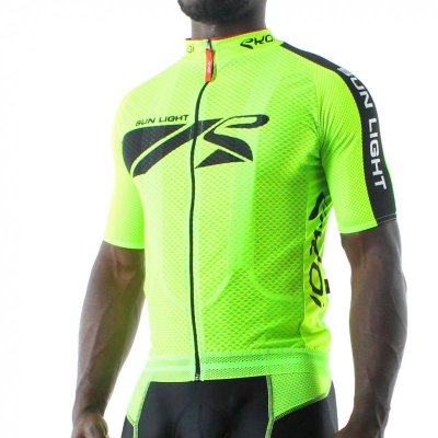Sunlight wielershirt 2014 Fluor groen