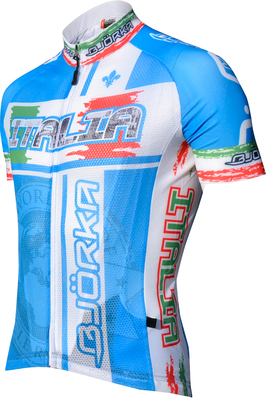 Maillot World Italie Blauw