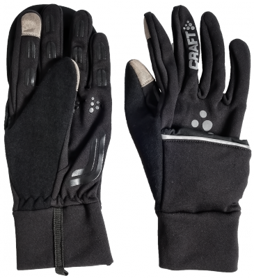 Craft Hybrid Weather handschoen wit/zwart