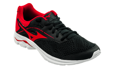 Mizuno Wave Rider 23 Jr black-red [kids]