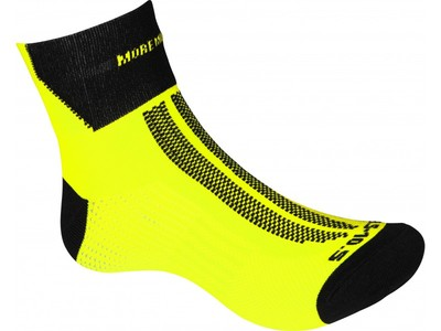 More Mile Fluo Yellow Lumino lite sock