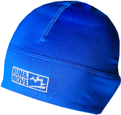 Run en Move Mütze dark royal blauw