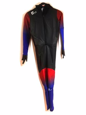 Nice Speedskating Suit Black/Brown/Blue