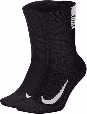 Nike Multiplier High Socks 2 Pack Black