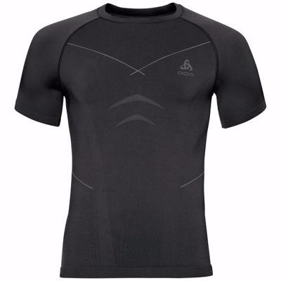 Odlo Heren Shirt Korte mouw/ Crew Neck Evolution warm, Zwart