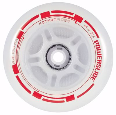 Powerslide Fothon Rage LED Red 4-pack 84mm