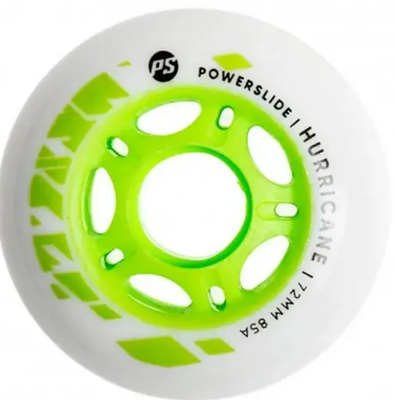 Powerslide Hurricane 72mm wit/groen
