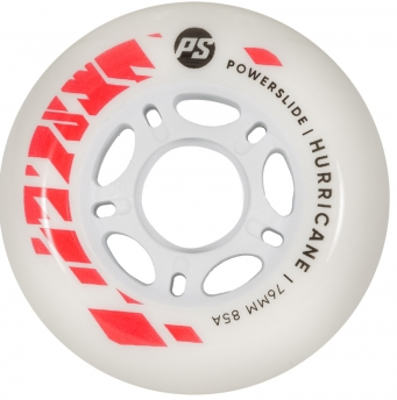 Powerslide Hurricane 76mm wit rood