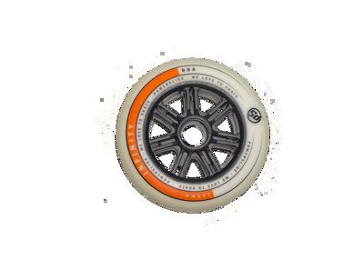 Powerslide infinity125mm 88A wit/oranje