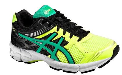 Asics Pulse 7 flash yellow/peacock green/black kids