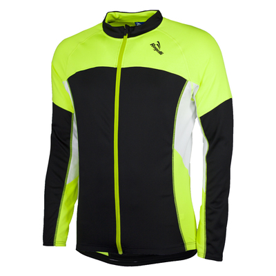 Rogelli Maillot velo RECCO Long Noir/Jaune Fluo