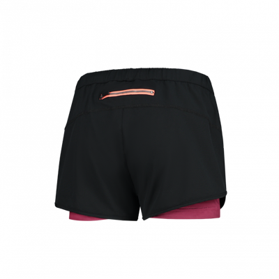 Rogelli Aura 2 in 1 short black/cerise/coral