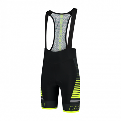 Rogelli cycling short Hero black/fluor yellow