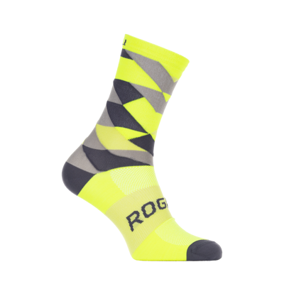Rogelli cycling sock RCS-14  fluor yellow