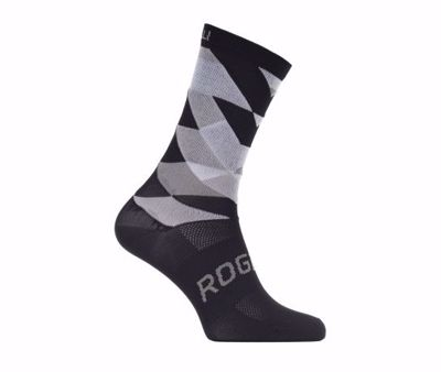 Rogelli bicycle sock RCS-14 black / white