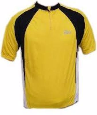 Rogelli Pisa Shirt Yellow/Black/White short sleeve
