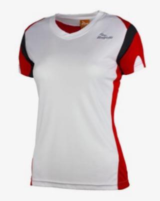 Rogelli Running shirt Eabel s/s Woman White/Red/Black