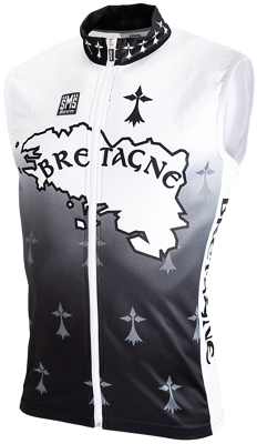 Santini Bretagne sleeveless cyclingshirt full zipp