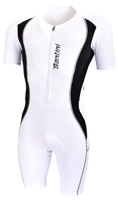Santini Cycle Skin Suit Chrono Wit
