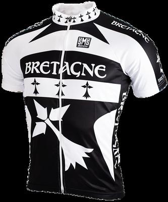 Santini Fietsshirt Bretagne met rits korte mouw