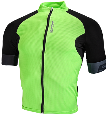 Santini Cycleshirt Short Sleeve Cool Zero Eco-Friendly Green
