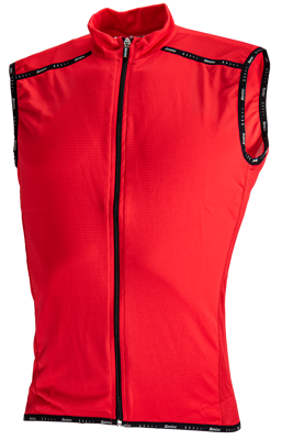 Santini Cycleshirt Zip 75 Sleeveless Red