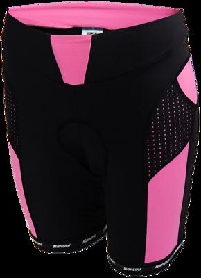 Santini fietsshort Giallo Pink