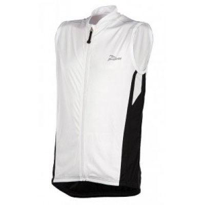 Rogelli Sarno mouwloos wielershier white/black