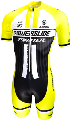 Powerslide Inline Skinsuit World FLUOR YELLOW sleeve 2019
