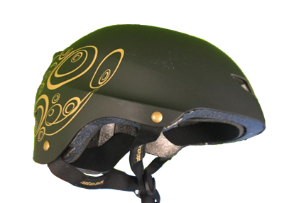Stean gold helmet