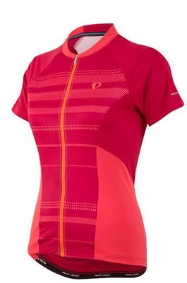 Wielershirt Elite Escape SS Jersey Cerise Stripe (Roze) Women