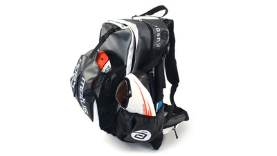 Skate Backpack Waterproof Zwart/Wit
