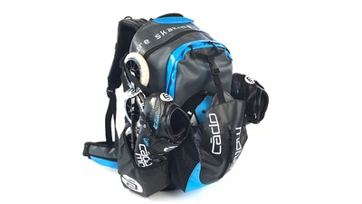 Cádomotus Skate Backpack Waterflow Schwarz/Cyan