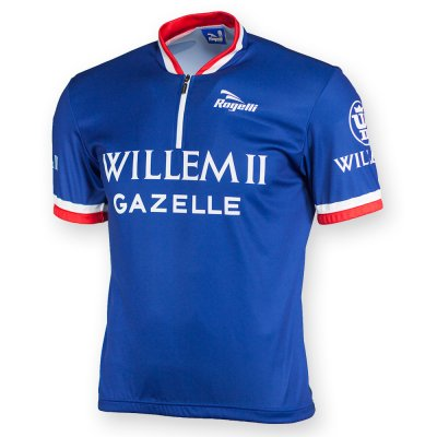Rogelli Retro Willem II wielershirt kortemouw