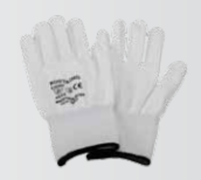 Zandstra tactil snijvaste schaatshandschoen wit