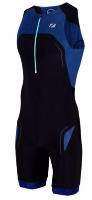Zone3 Men's Performance Culture Triatlonsuit sleeveless - Navy / Zwart / Grijs