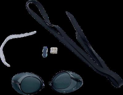 zweedse zwembril zwart