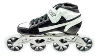 BontPursuit Skate Zwart/Wit 4x100