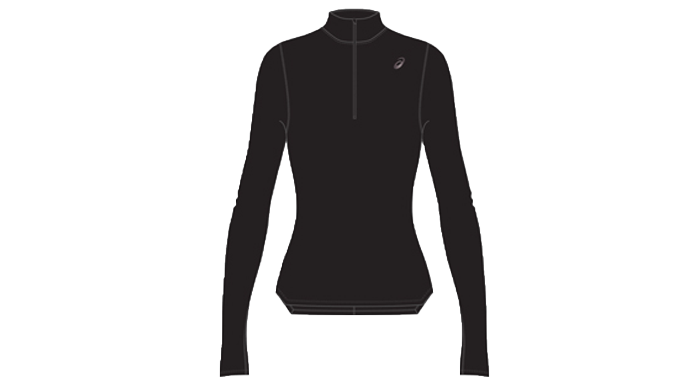 57e63013b27 Asics Women's Silver LS 1/2 zip winter top [performance black ...