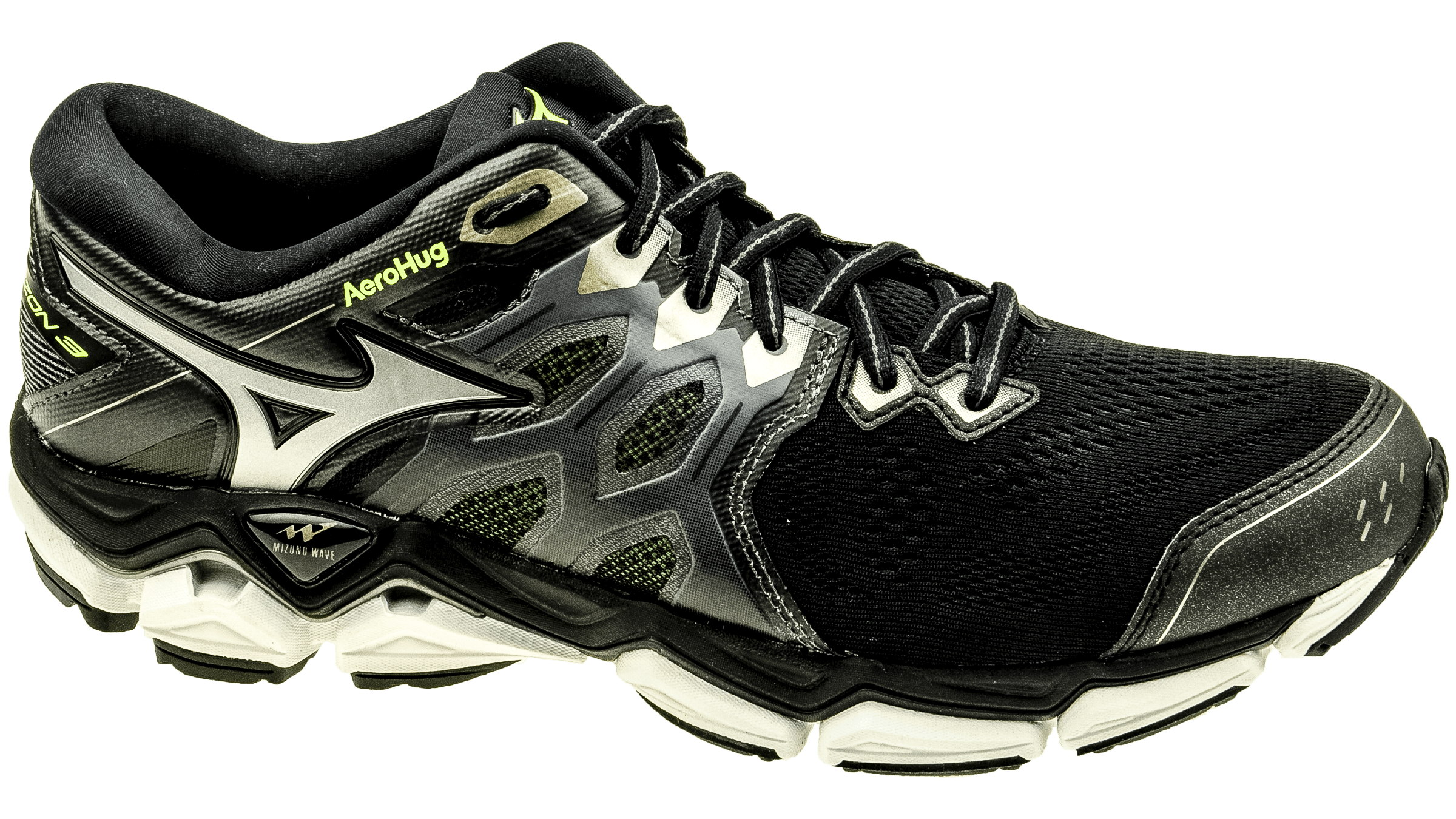 Mizuno Wave Horizon 3 black metallic shadow safety yellow bestellen bij  Skate-dump.nl bc8ff615103