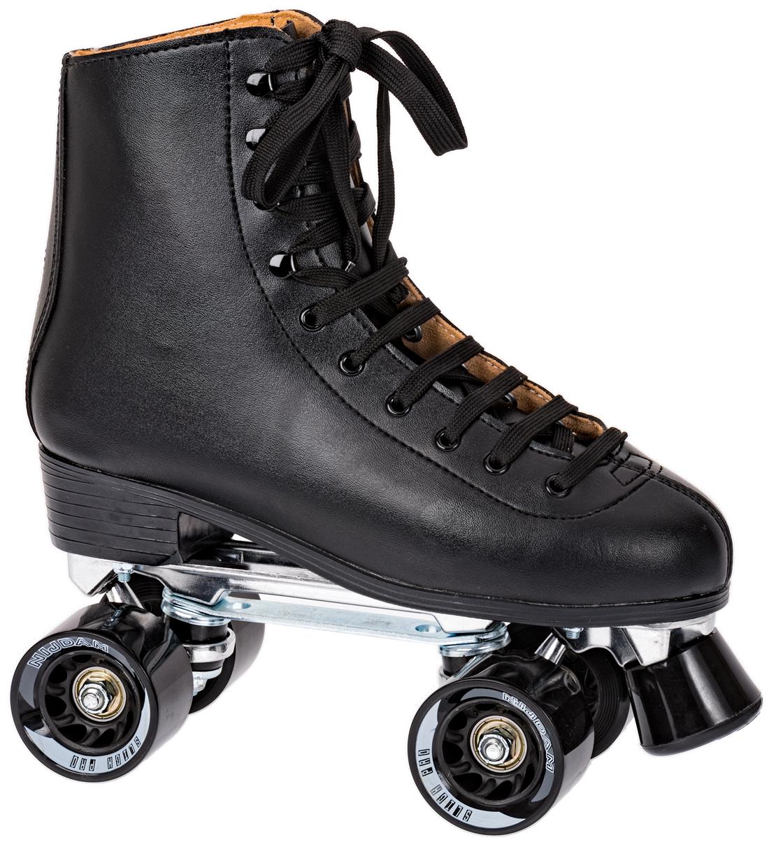 bc8d7caae1e Nijdam Rollerquad classic black leather bestellen bij Skate-dump.com