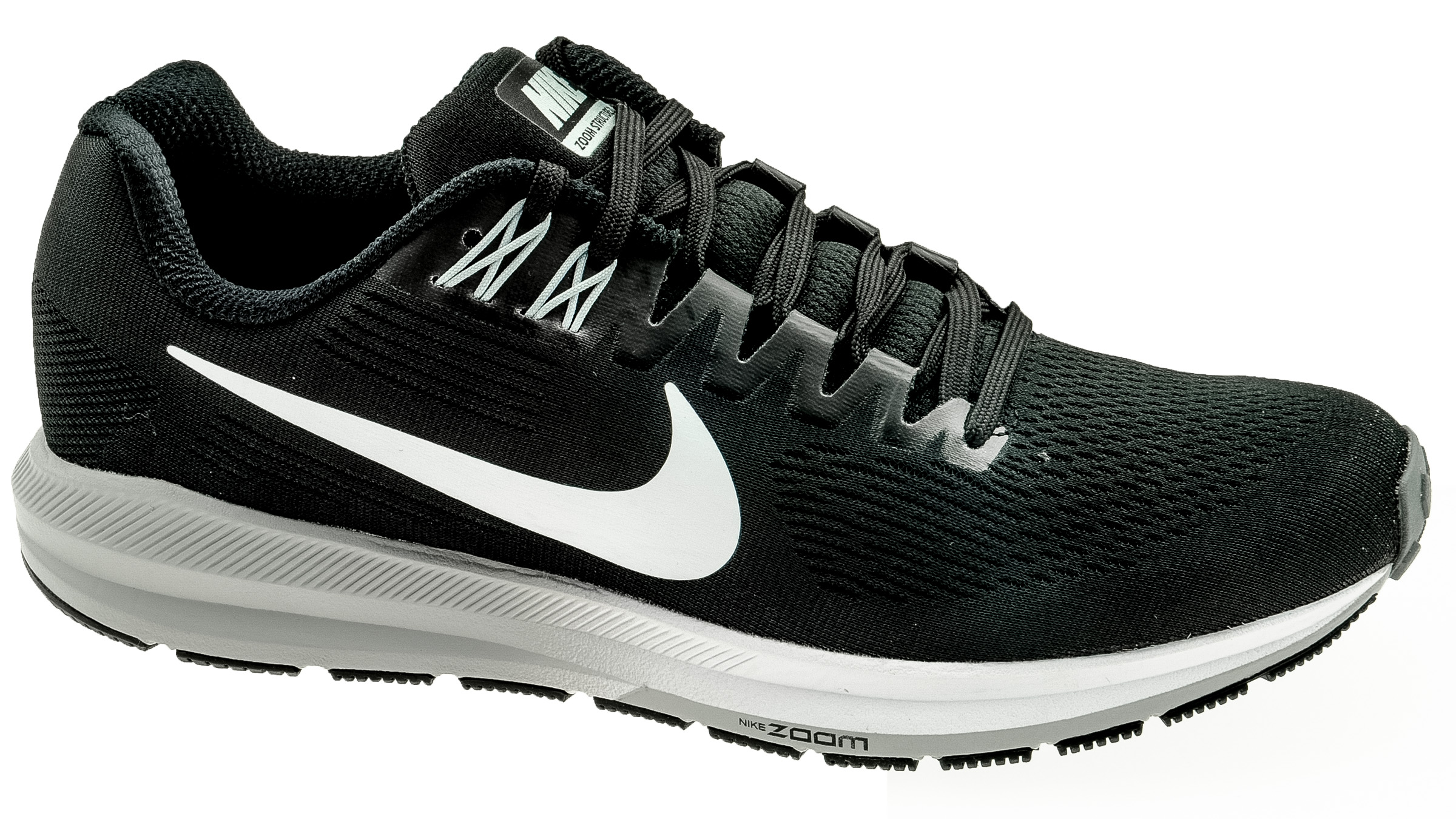 26280b8cbed9 Nike Air Zoom Structure 21 black white - wolf grey bestellen bij ...