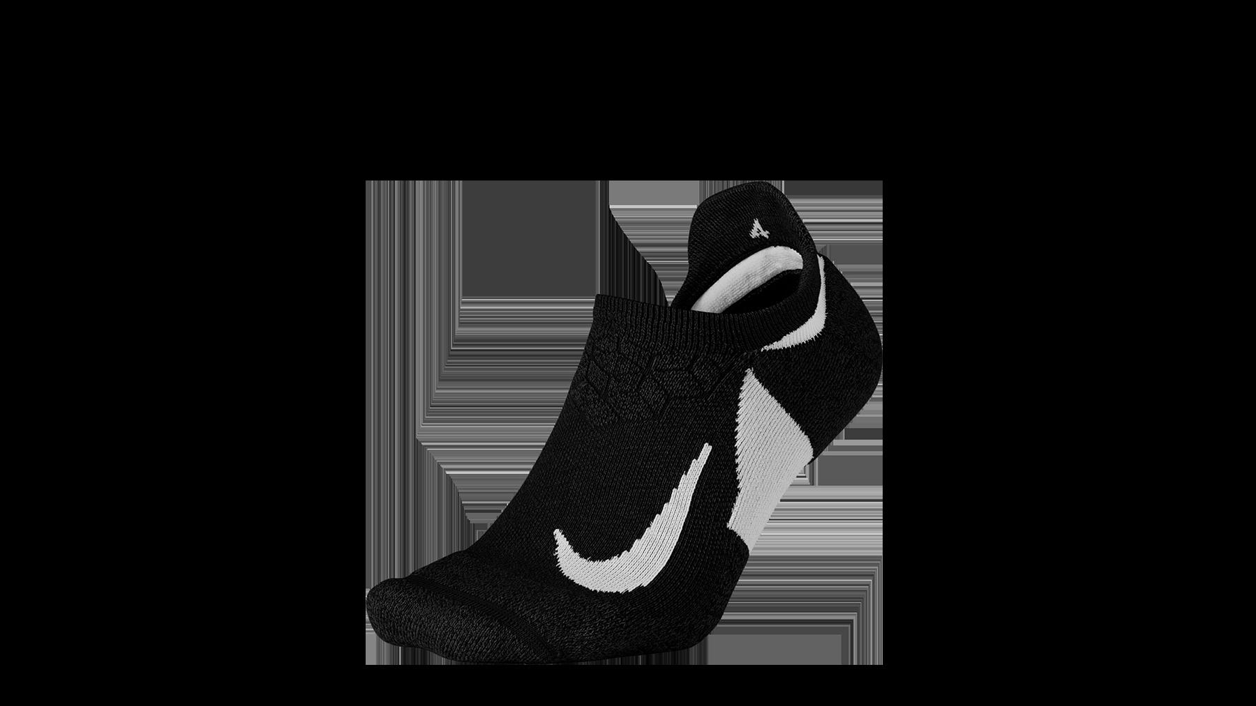 8f83f4bf2 Nike Elite Cushion No show Running socks black/white unisex