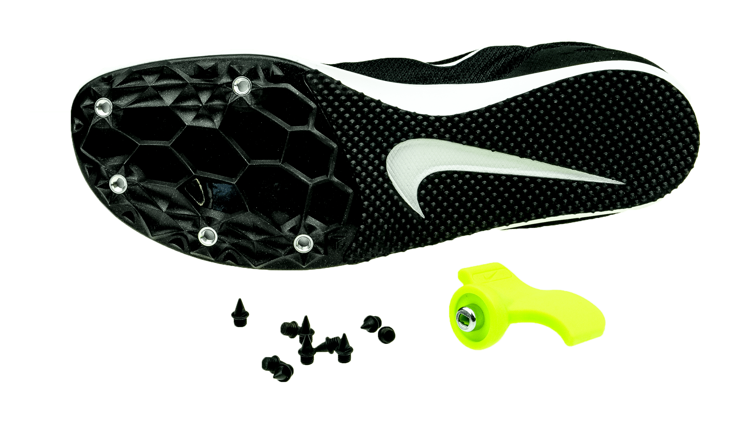 free shipping 8bb62 26fc0 NikeZoom Rival D10 black white volt  unisex