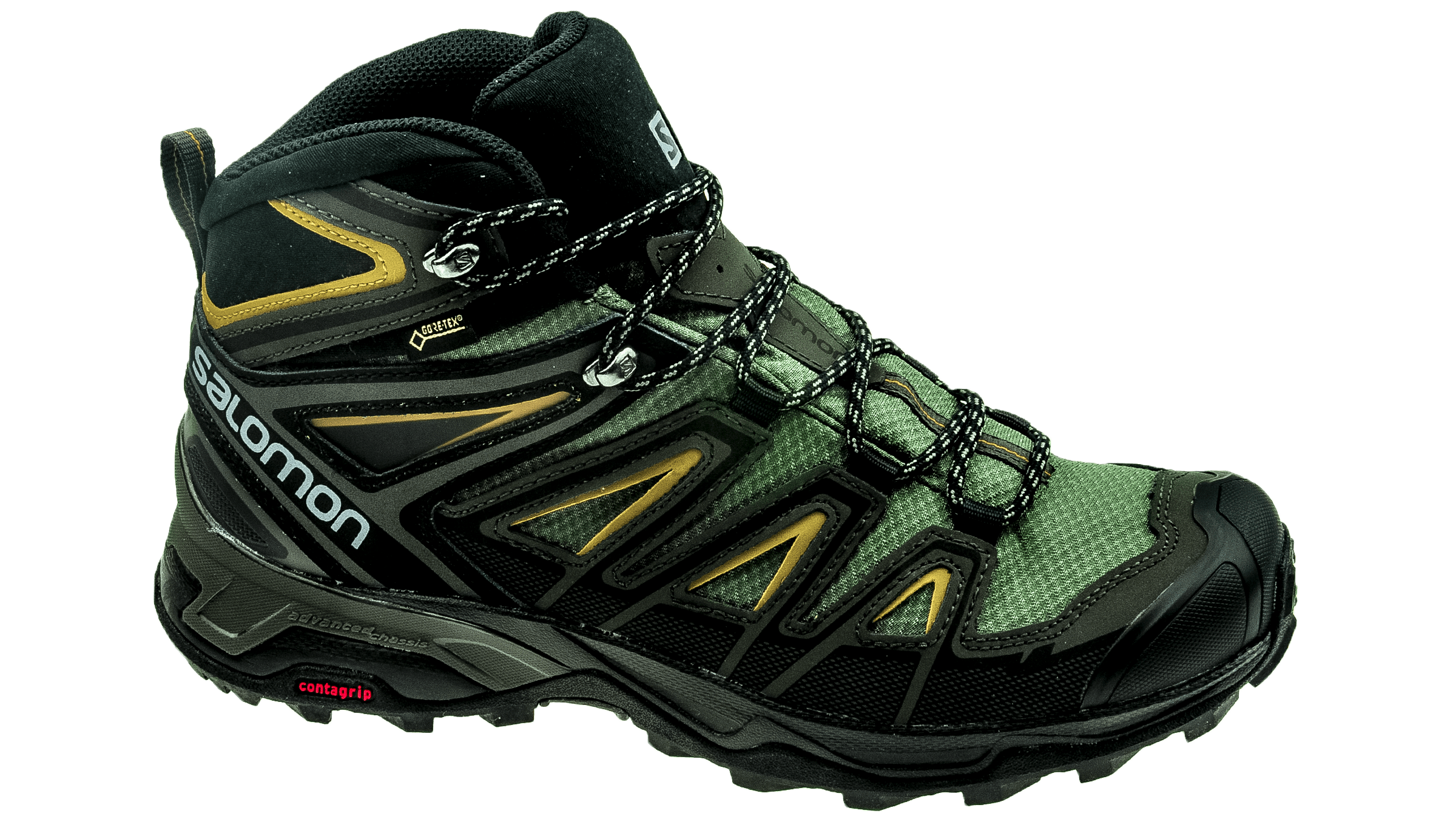 finest selection 82259 40172 Salomon X Ultra Mid 3 GTX Castor Gray/Black/Green Sulphur