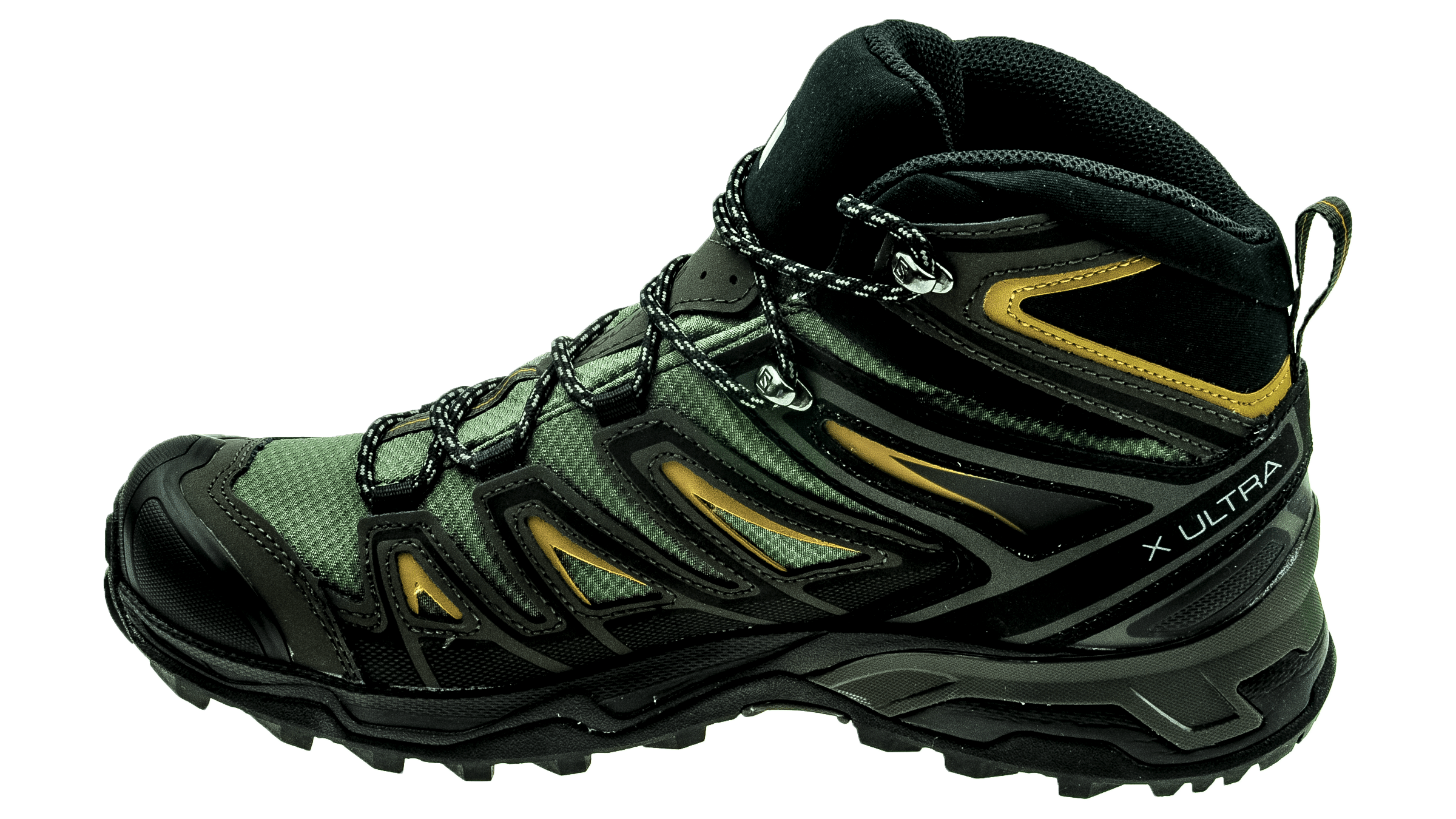 finest selection b4e8a ff032 Salomon X Ultra Mid 3 GTX Castor Gray/Black/Green Sulphur
