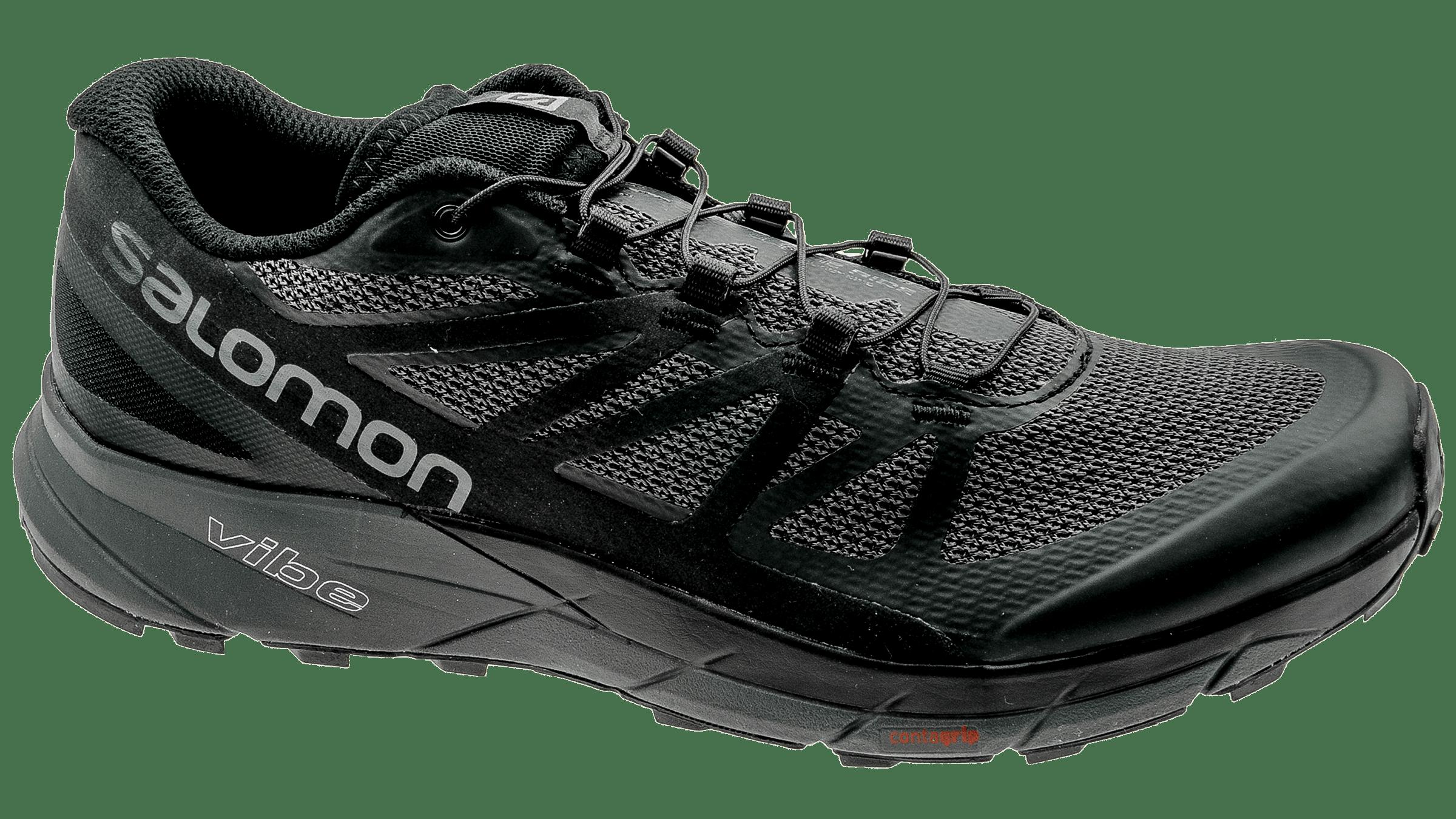Salomon Sense Ride Chaussures running Homme, blackblackmagnet